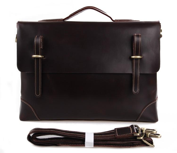 Genuine Cow Leather Men's Messenger Bag J.m.d Brand Document ...