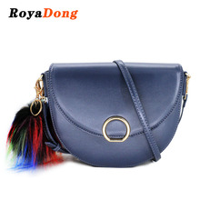 Luxury Women Long Handle Professional Women's Shoulder Bag With Fur Ball