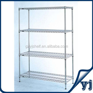 Chrome Shelving System,Industrial Wire Shelving Units,Wire Chrome Shelving Unit with Corner Units