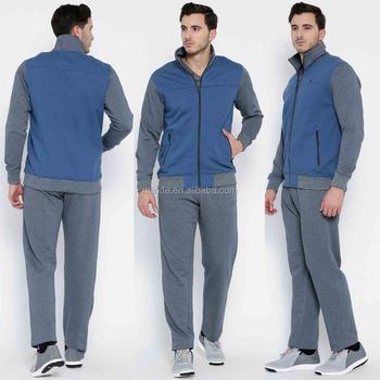 097118cfcb726 Erkekler Spor Takım Elbise Iki Renk Tonu 2 ADET Spor Özel Etiket Polar Tam  Eşofman Gri