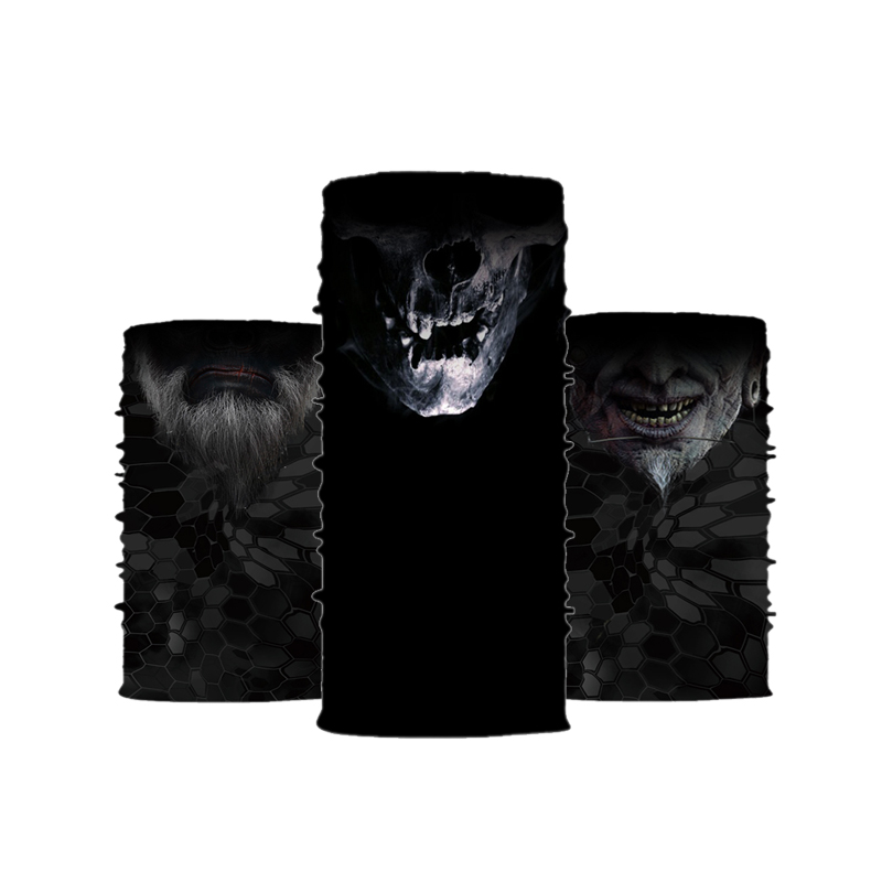 Sublimation Neck Gaiter Custom Logo <strong>Black</strong> Skull <strong>Bandanas</strong>