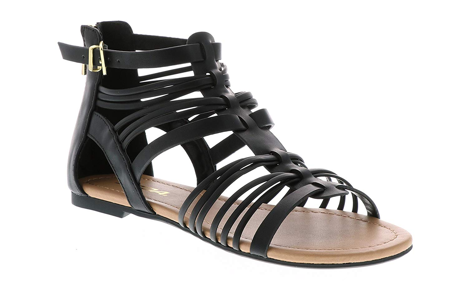 d1e82245371 Buy Soda Women  39 s Gladiator Inspired Strappy Open Toe Flat Sandals  Embellishment Straps Braid Head in Leather MVE Shoes in Cheap Price on  m.alibaba.com