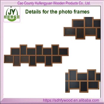 Ảnh Handmade Cắt Dán Khung/multi Windows Ảnh Khung Gỗ/gỗ Màu Đen 14 Ảnh Hở  Tường Cắt Dán Khung Hình - Buy Tường Cắt Dán
