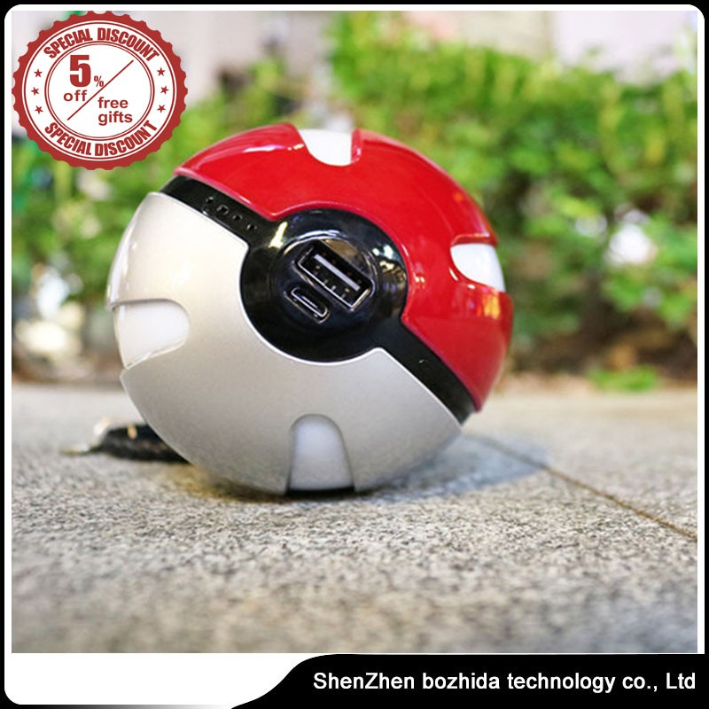 Very hot sale pokenball powerbank Pokemon Go Pokeball 12000 Mah Charger Pokeman Power Bank