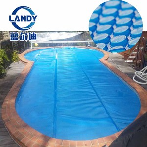 Rectangular 500 micron bubble winter solar pool cover blanket for inground swimming pool