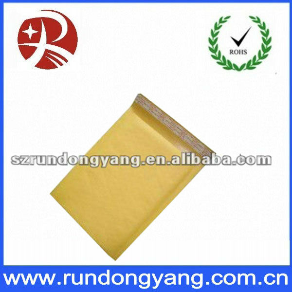 yellow high quality bubble mailing packing bags with all sizes
