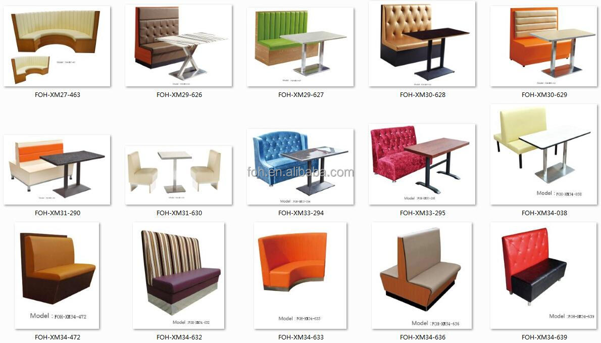 Restaurant furniture booths - Orange Diner Furniture Restaurant Bench Booth Seating Hot Selling Foh Xm33 475