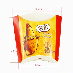 fried potato chips box with film lamination surface finish