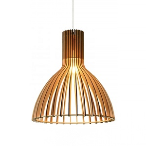 New arrival led wood light decorative hanging pendant lighting fixture