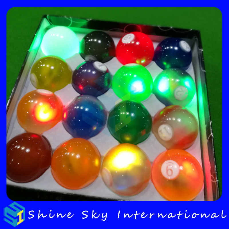 Crystal New Design Standard 8 Pool Billiards Games Led Billiard Balls For Club/Disco/Gifts