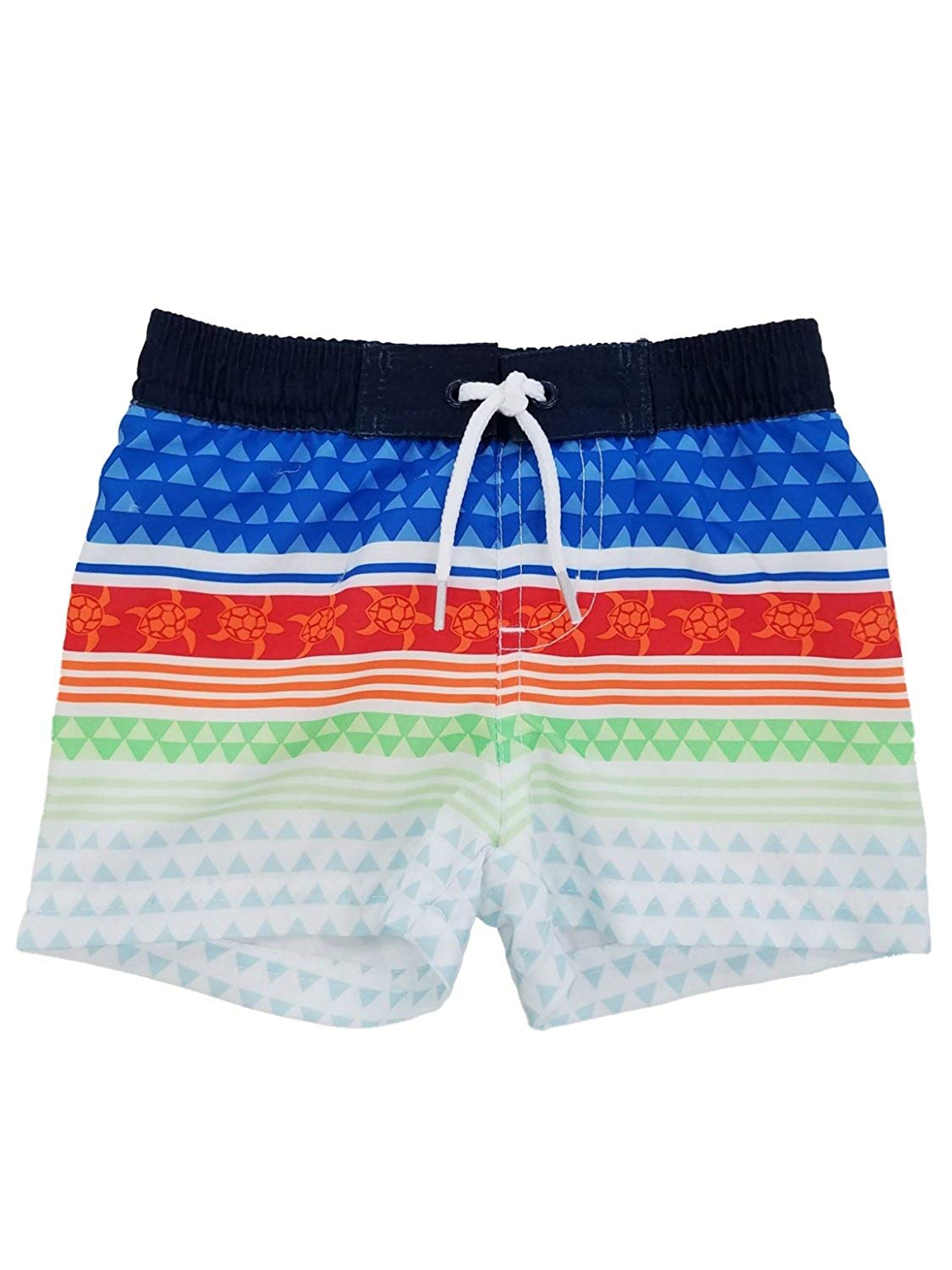5d8a8cab4f Get Quotations · Koala Kids Infant Boys Multicolor Aztec Tropical Sea  Turtle Swim Trunks Board Shorts