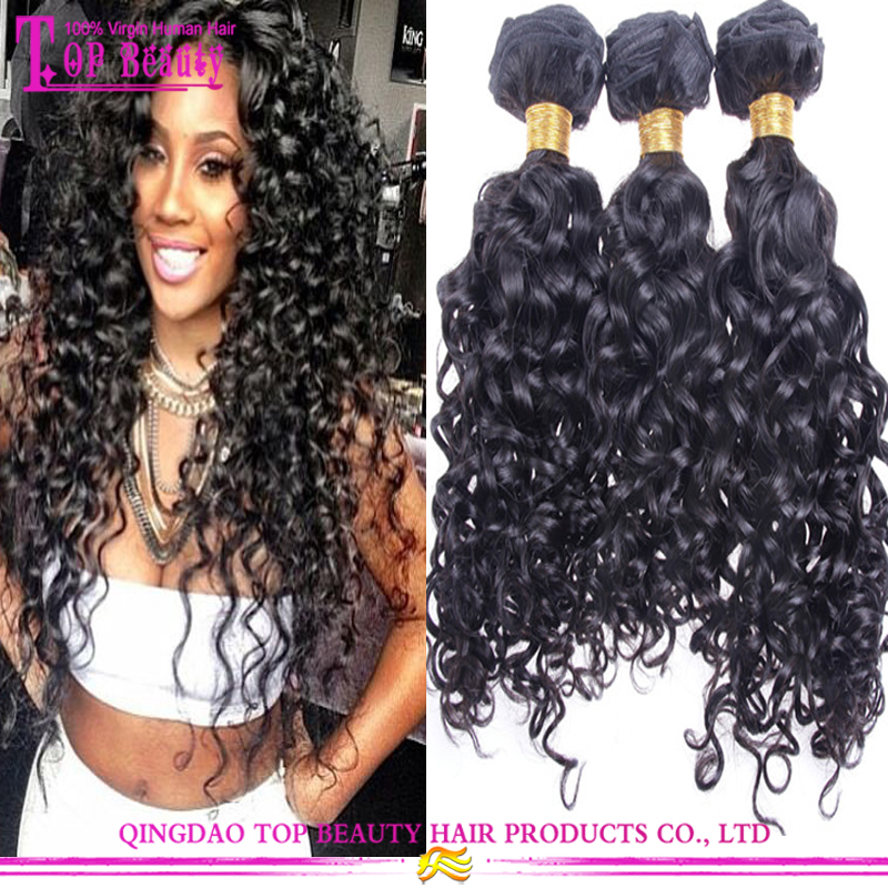2016 New Style Curly Hair Extension For Black Women Unprocessed Top