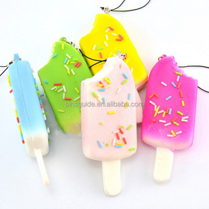 EVA fake icecream logo shaped PU custom foam floating keychain
