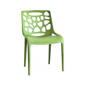 Wholesale Cheap Outdoor Armless Hollow Textured PP Plastic Chair