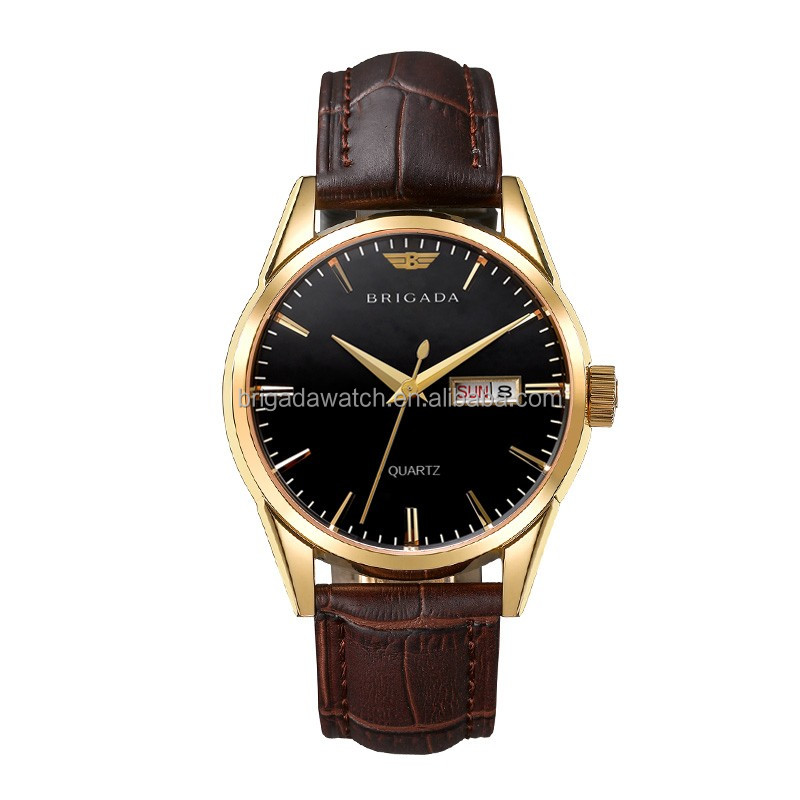 2017 high quality IP gold plated quartz wrist watches men luxury design at great level