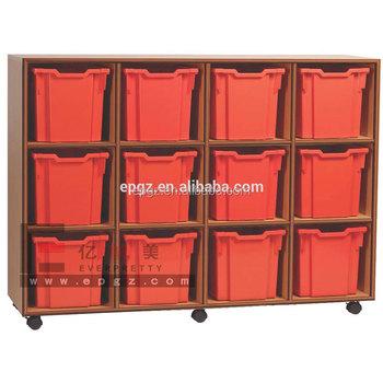Wooden Furniture Kindergarten Cabinets,caster Kids Cabinet
