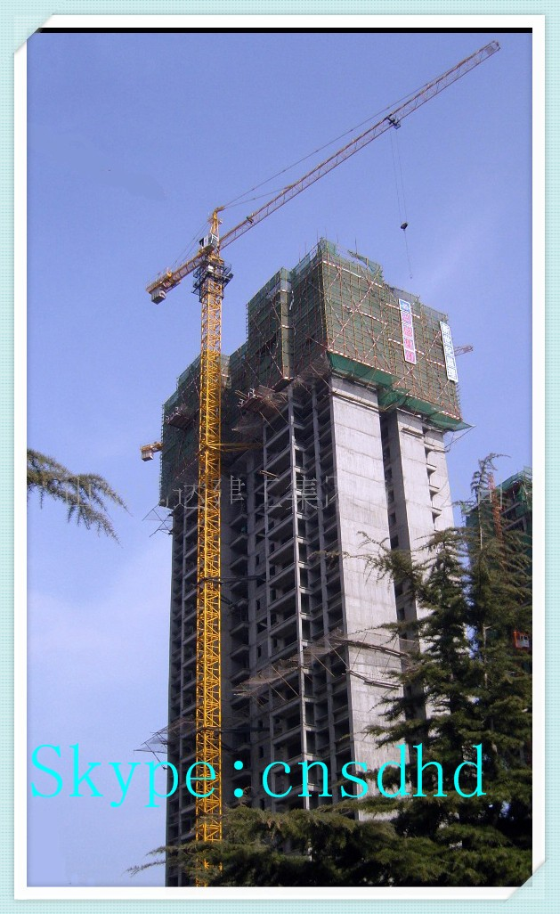 Hongda QTZ125F 10t tower crane with head and remote control frequency tower crane for sale
