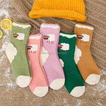 Cartoon women socks wholesale breathable wool winter socks warm women