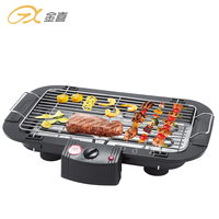 BG-01 Indoor Portable Smokeless Height Adjustable Electric Flat Top Grill, Home Use BBQ Grill Pan