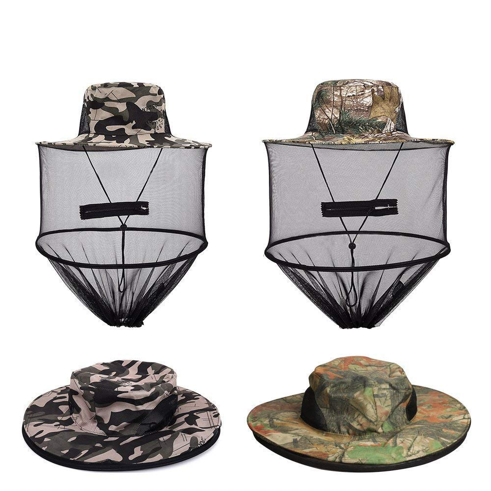 c7d5338596e9e Get Quotations · VIPITH 2 Pack Mosquito Head Net Hat