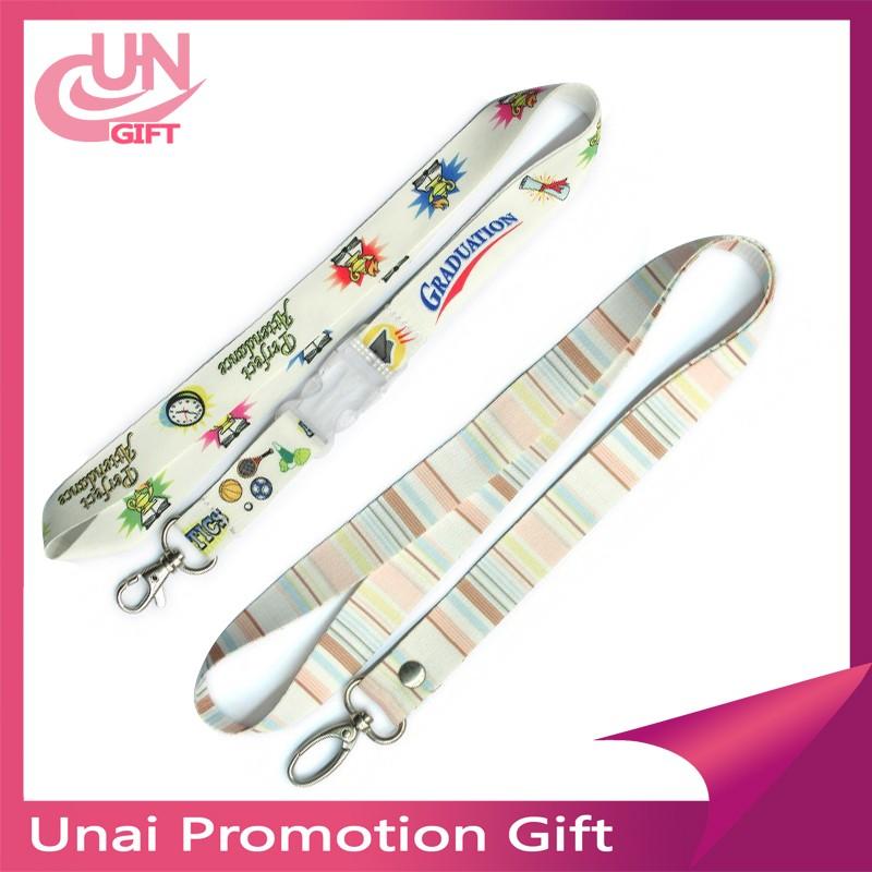 Personalized Satin Printed Lanyards Screen Printing Ribbon ...