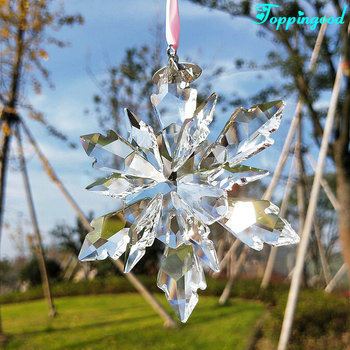Beautiful Hanging Christmas Clear Snowflake Crystal