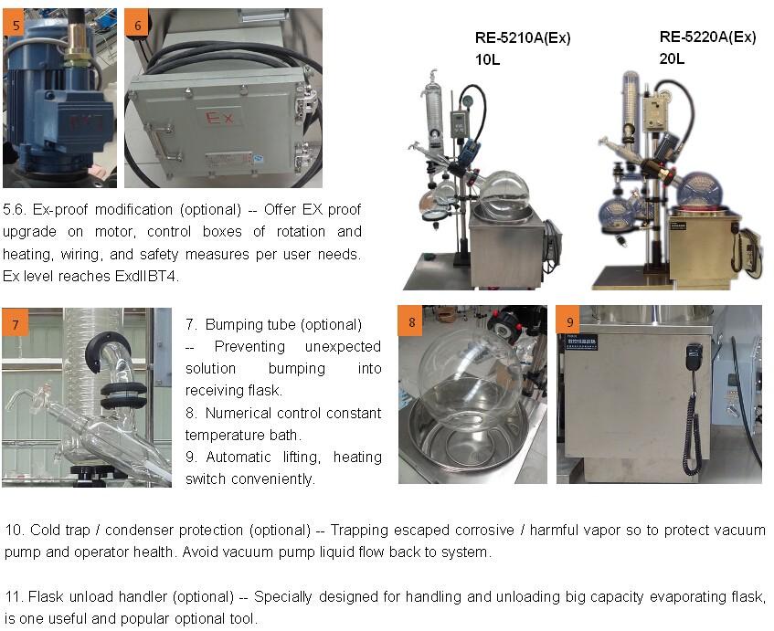 Plant Essential Oil Steam Destillation Machine vacuum rovatap/ Rotary Evaporator for cannabia oil distillation