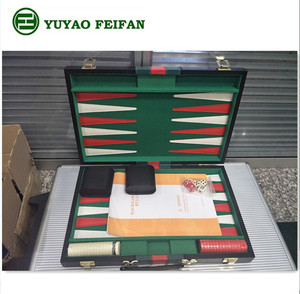 Wholesale Cheap Custom leather Backgammon Boards game Set