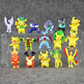 4CM Pikachu Charmander Gengar Eevee Snorlax Lapras Torchic Figure Toys Dolls 16Pcs Lot Free Shipping In