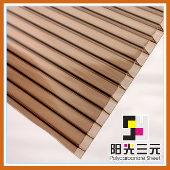 6mm Colored Double layer lexan polycarbonate sheet for roof skylight ...