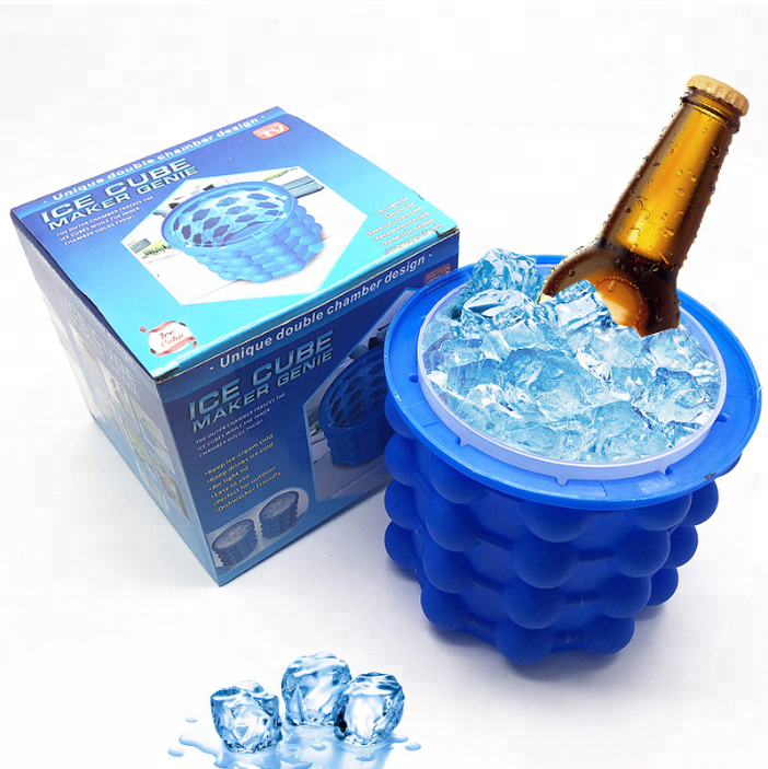 Wine Holder Accessory Ice Cube Maker Plastic Ice Bucket Wine Coolers for Beer