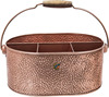 Copper Tin Caddy with Four Compartments
