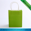 Green orange blue solid color kraft paper bags with twist paper handle