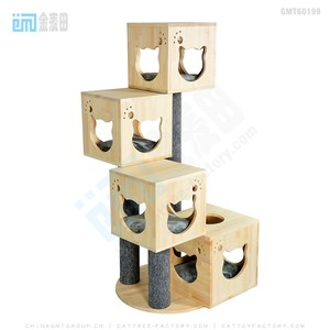 GMT60199 top best selling pet products new design wooden cardboard cat litter box