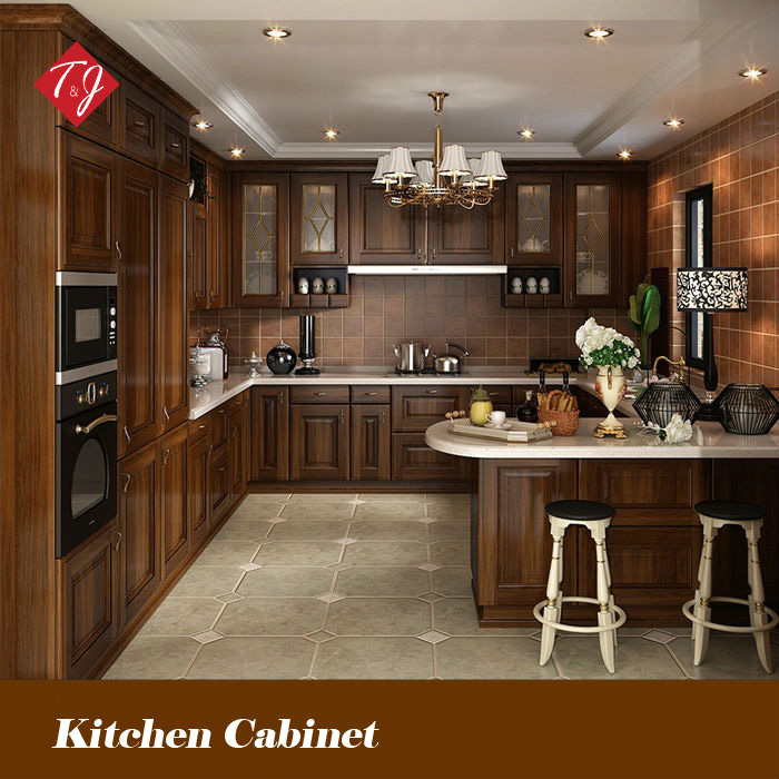 Design Kitchen Cabinets Free: Free Design Classic Style Antique Wooden Kitchen Cabinet