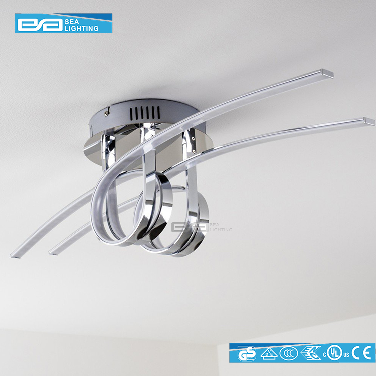 Project modern style lighting fixture long led chandelier for Long ceiling light fixture