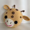 Animal Giraffe style Knitted decorative round stuffed sofa and chair cushion, pillow, pouf