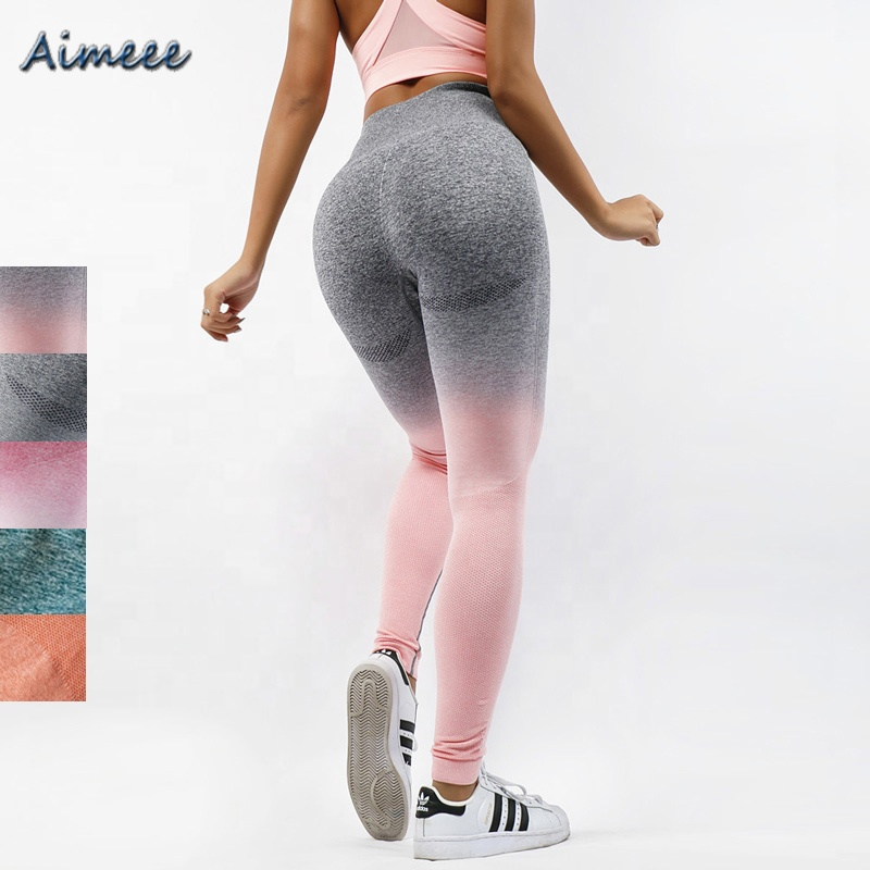 aa1e379b70076 Ombre Workout Clothing Women High Waist Compression Leggings - Buy ...