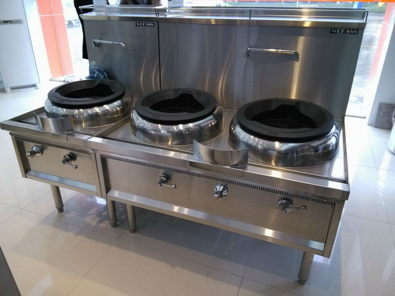 Hotel Restaurant Equipment Kitchen Cooking Stove Gas Wok
