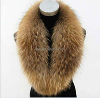 Factory direct wholesale China Raccoon Dyed Different colour Fur Collar/Scarf
