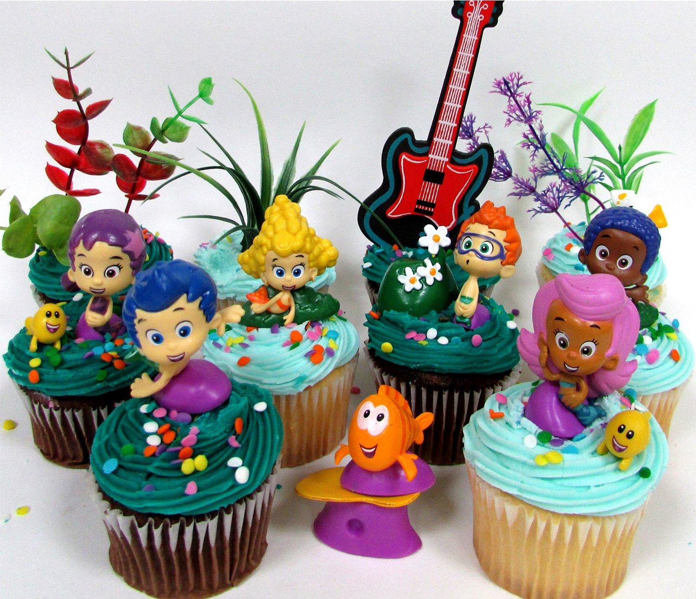 Astonishing Buy Bubble Guppies 19 Piece Birthday Cupcake Topper Set Featuring Personalised Birthday Cards Veneteletsinfo