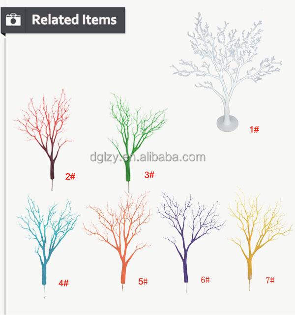 haute qualit artificielle pu d coration blanc branche d 39 arbre de mariage center de table. Black Bedroom Furniture Sets. Home Design Ideas