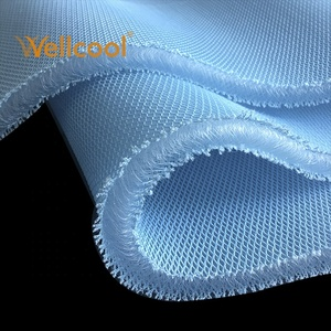 Mattress and topper blue cooling mesh 15mm air 3d knitted spacer fabric
