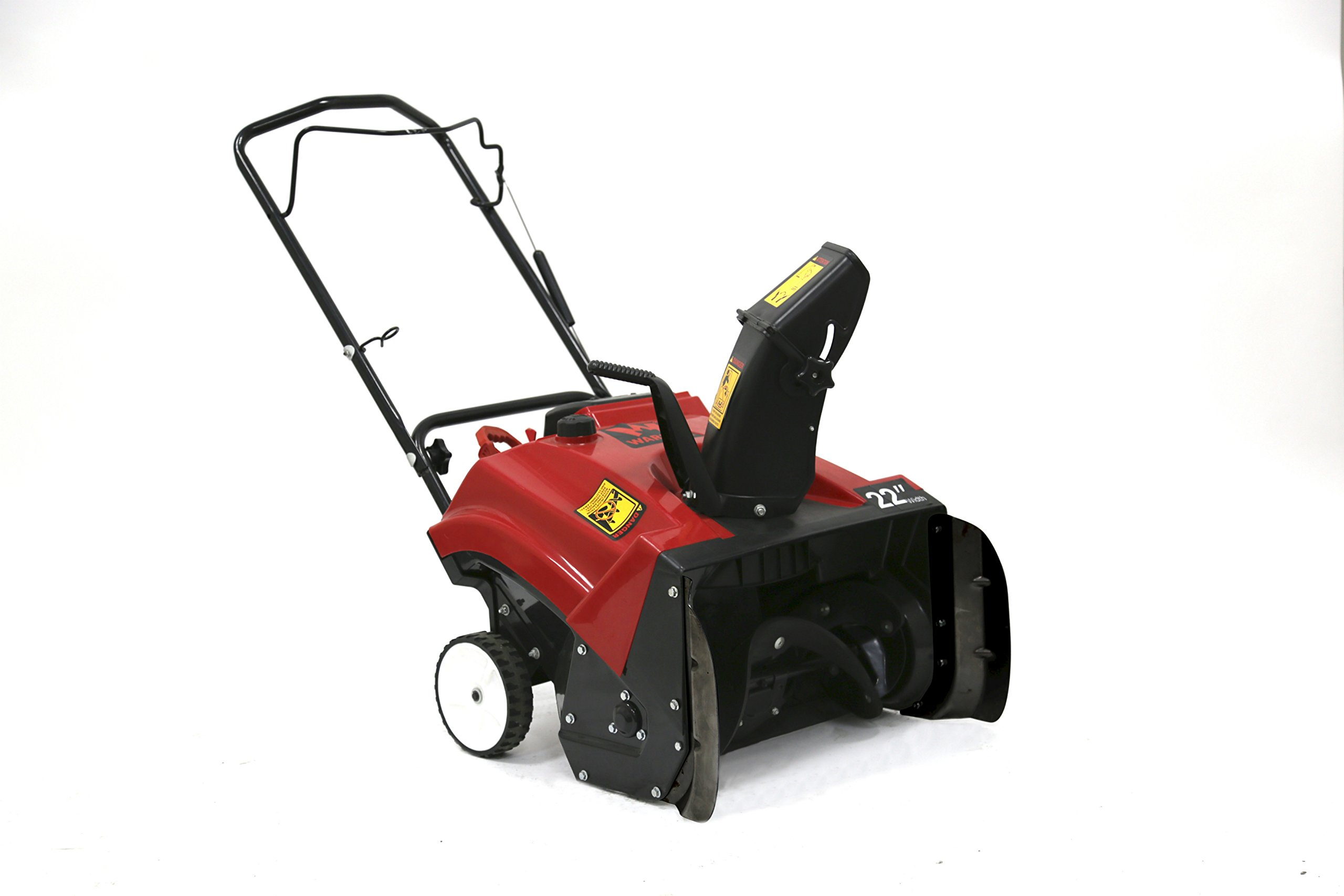 "Warrior Tools America WR67436N Single Stage Hand Push Snow Blower, 196cc/22"", Red"