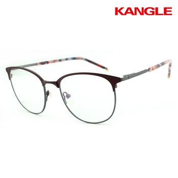 Trending Hot Half Rim Frames Optical Glasses Frames Fancy Stainless ...