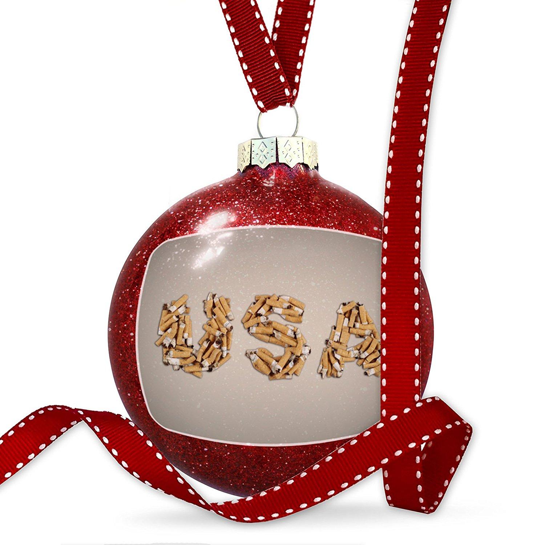 Christmas Decoration USA Smoking Cigarettes Ornament