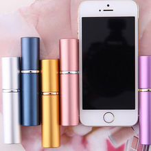 Aluminum Refillable Spray Atomizer Empty Perfume Glass Bottle Travel Size 6ML