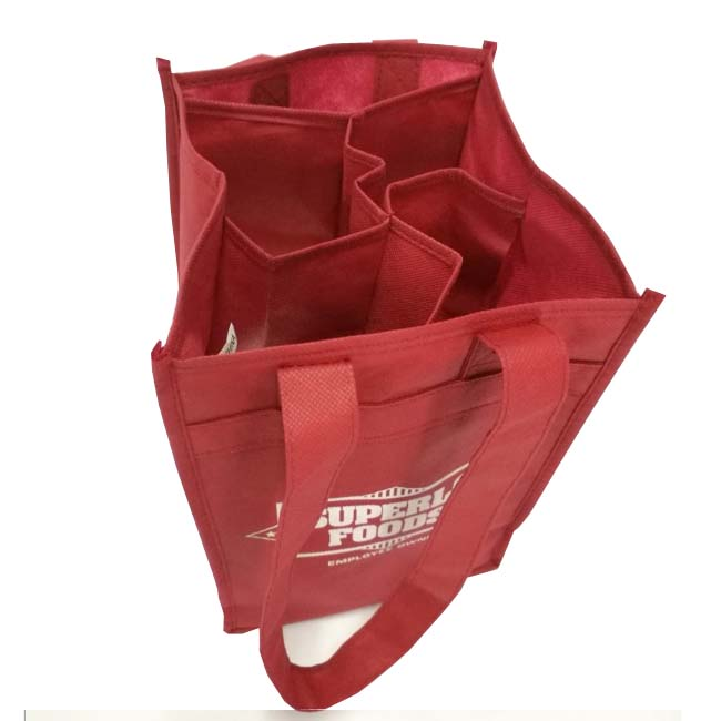 Wholesale durable recyclable reusable non woven wine bag