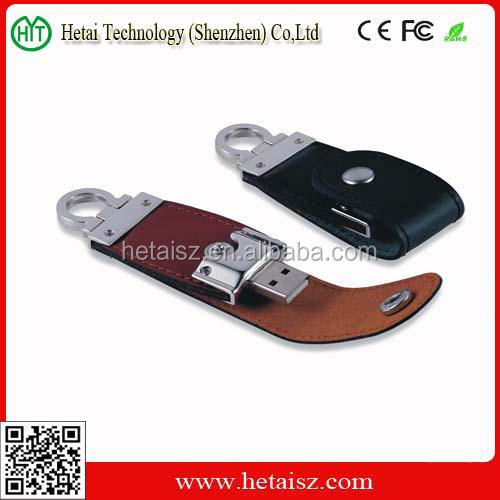 Factory Price 4GB black leather usb flash drive 2.0 Promotion Giveway 4tb usb 4.0 leather usb flash drive wholesale