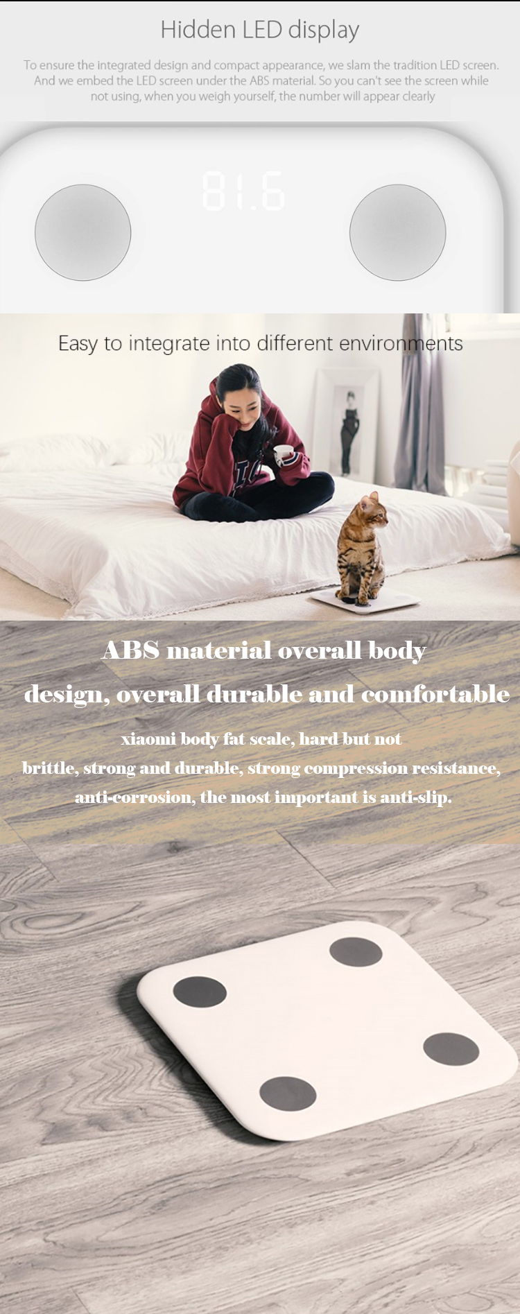 150kg Capacity Household Bluetooth Xiaomi Mijia Smart fat Scale Mi Body Composition Scale